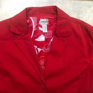Chico's Red Light Jacket